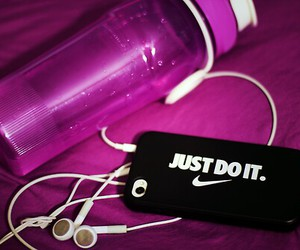 nike, Just Do It, and fitness image