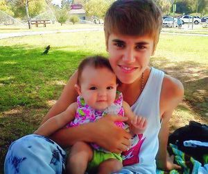 justin bieber and baby image