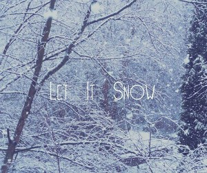 snow, winter, and let it snow image
