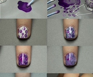 nails, diy, and purple image