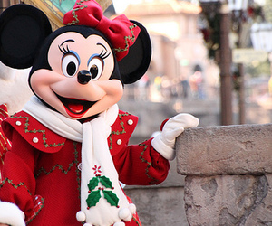 christmas, minnie mouse, and disneyland image