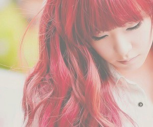 girl, red, and japanes image