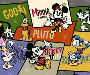 daisy, goofy, and mickey mouse image