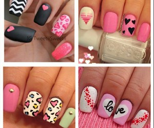 nails, pink, and art image