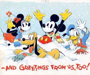 christmas, greeting, and disney image