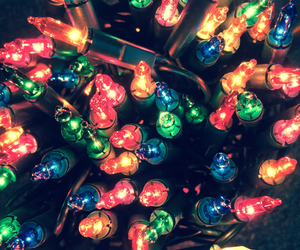 christmas, colourful, and fairy lights image