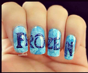 nails, frozen, and blue image
