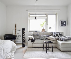 home, interior design, and white image