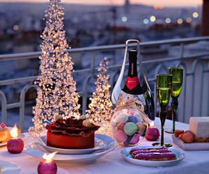 christmas, dinner, and food image