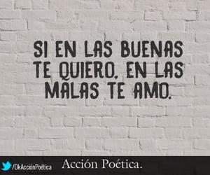 malas, buenas, and accion poetica image