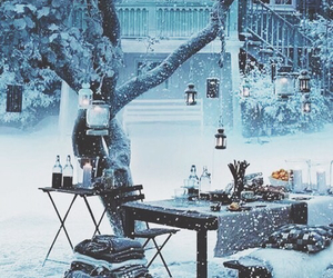 beautiful, snow, and books image