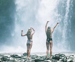 bikini, boho, and fashion image