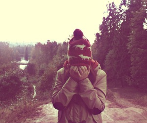 cold, forest, and girl image