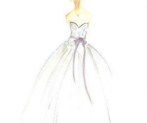 bride, drawning, and wedding image
