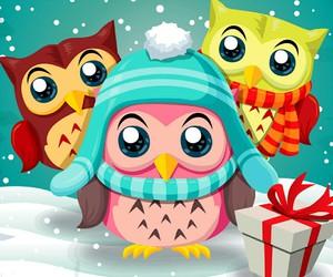 chrismas, owl, and winter image
