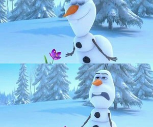 flower, frozen, and olaf image
