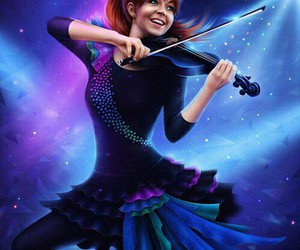 lindsey stirling, art, and drawing image