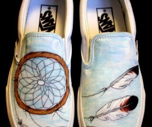 vans, shoes, and dreamcatcher image