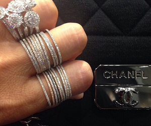 chanel, rings, and luxury image