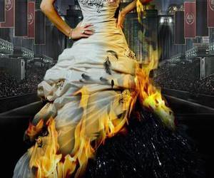 catching fire, katniss, and hunger games image
