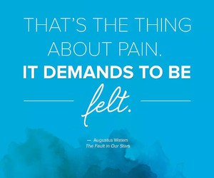 the fault in our stars, quotes, and pain image