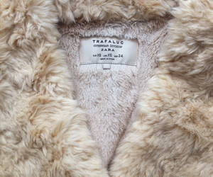 fur, Zara, and beige image