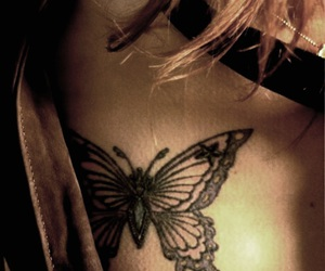 Kiyoharu, tattoo, and butterfly image
