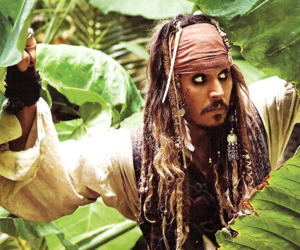 jack sparrow, movie, and johnny depp image