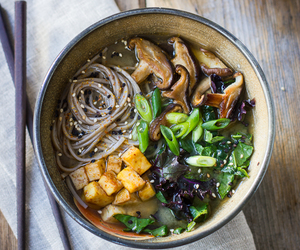 food, noodles, and soup image