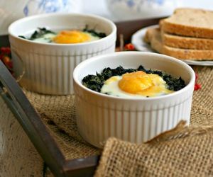 cheese, eggs, and spinach image