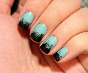 black, ombre, and blue image