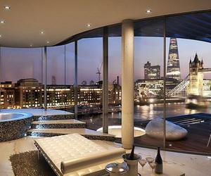 luxury, house, and city image