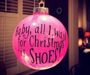 christmas, shoes, and pink image