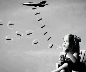 war, peace, and bubbles image
