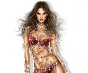 alessandra ambrosio, drawing, and vs image