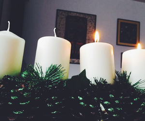 candles, christmas, and happy image