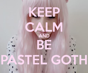 pastel goth, keep calm, and pink image