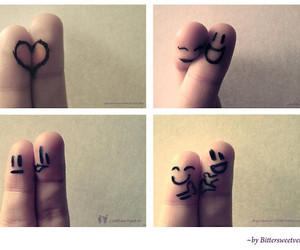 fingers, heart, and smiles image