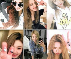 hyoyeon, selca, and sone note image