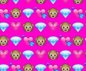 background, pink, and emoji image