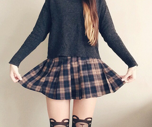 bears, outfit, and plaid image