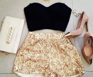 fashion, gold, and party image