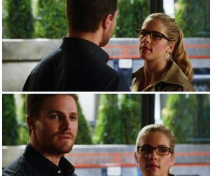 the flash, oliver queen, and felicity smoak image
