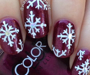 nails, nail polish, and snow image