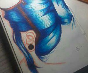 awesome, blue hair, and pretty image