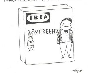 ikea, boyfriend, and funny image