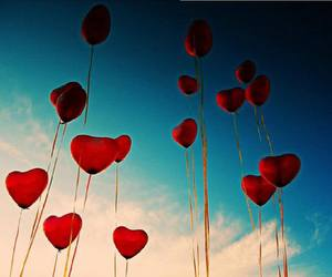 heart, love, and balloons image
