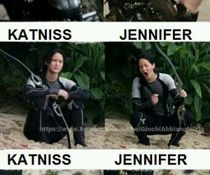 funny, katniss, and catching fire image