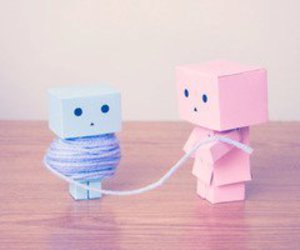 blue, pink, and danbo image