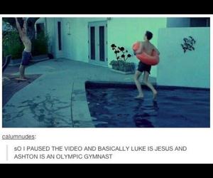 5sos, funny, and LUke image